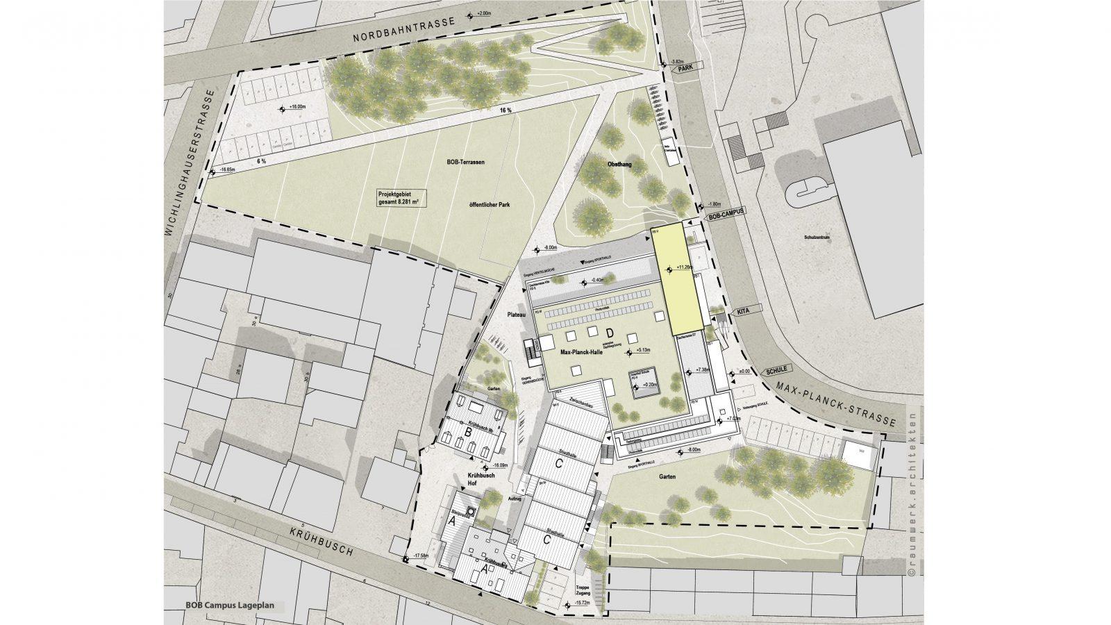 Lageplan: raumwerk.architekten, (C) Urbane Nachbarschaft BOB gGmbH