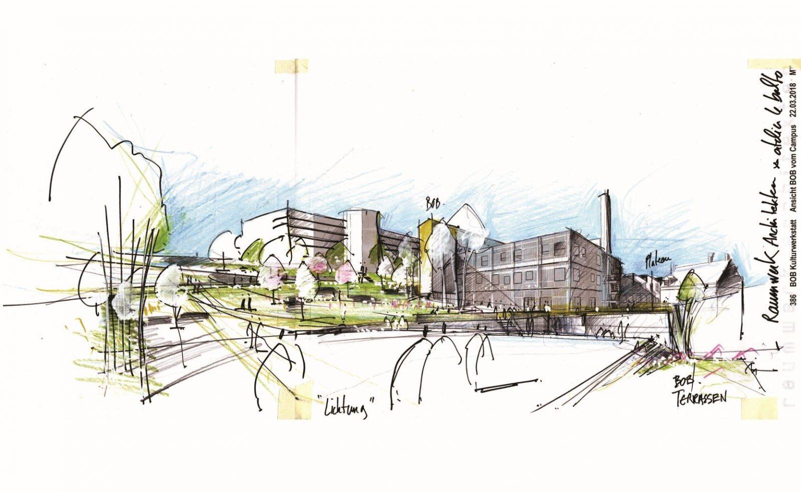 Zeichnung; atelier le balto, (C) Urbane Nachbarschaft BOB gGmbH