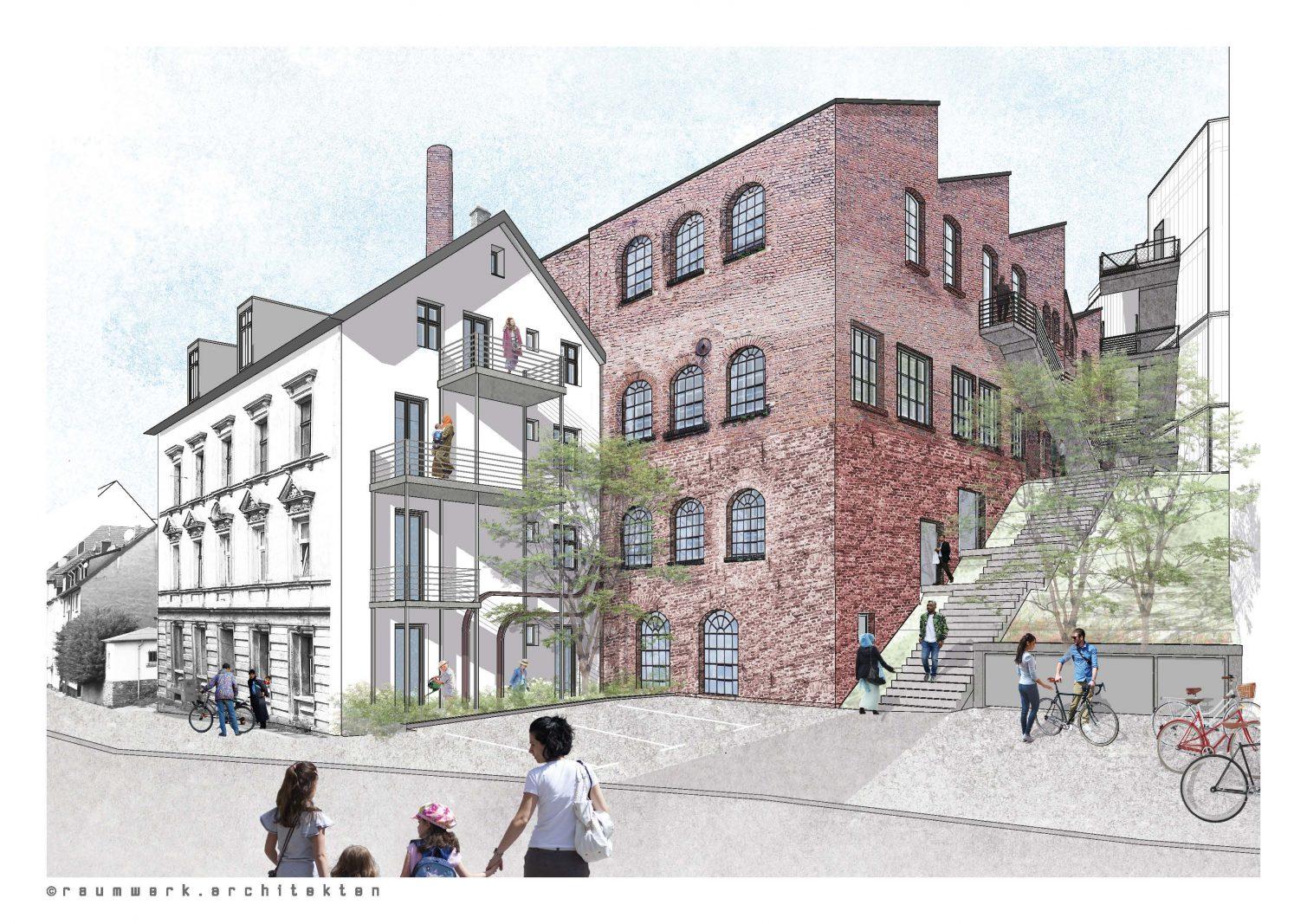 Grafik: raumwerk.architekten, (C) Urbane Nachbarschaft BOB gGmbH